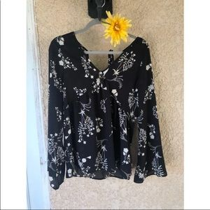 Charlotte Russe Floral Long Sleeve Blouse